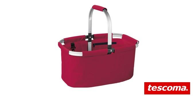 Nákupní košík skládací SHOP!, červená