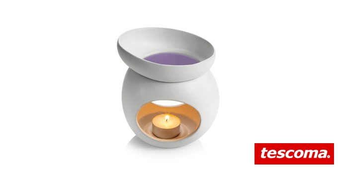 Aromalampa pro vonný vosk FANCY HOME Stones, bílá